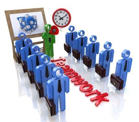 Gestión de los empleados con información relacionada con el diseño de la comunicación y Foto de archivo - 82455153