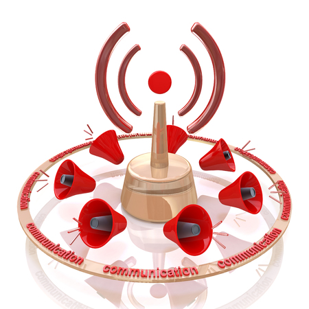 Abstract Wi-fi on white background. Signal communication in the design of the information related to the communication