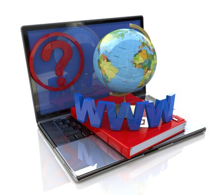 Global online inquiry at registration information associated with the global information and questions Banque d'images