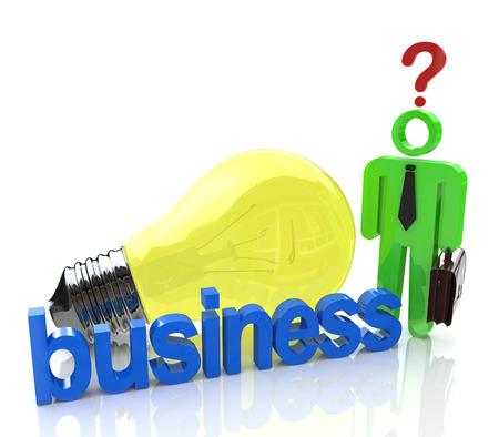 Idées de résoudre les problèmes dans les affaires à l'information d'inscription liées à des questions et des idées en affaires Banque d'images - 82455197