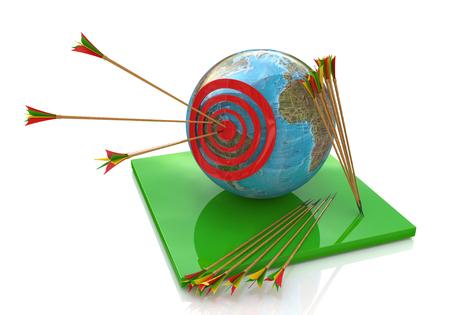 Objetivo global para el diseño de información relacionada con el mundo y los objetivos Foto de archivo - 82455208