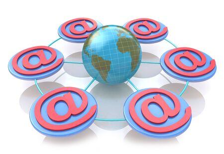 El concepto de red en línea para el diseño de la información relacionada con las tecnologías de Internet Foto de archivo - 82455211