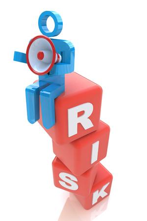 ビジネスに関連する情報のデザイン コンセプト リスク管理 写真素材
