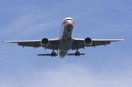 jetliner: Commercial Airliner on final Stock Photo