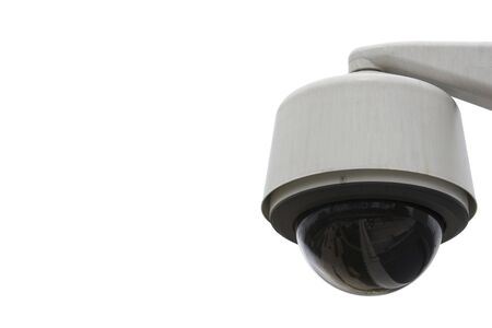 close circuit camera: Security Camera isolated on white