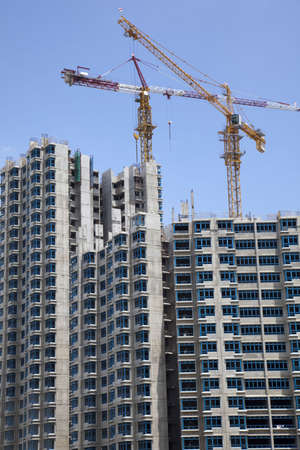 Condominium buildings under construction photo