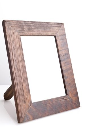 holder: Wooden table photo frame (side view) Stock Photo