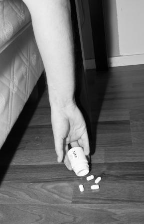 sobredosis: suicidio Foto de archivo