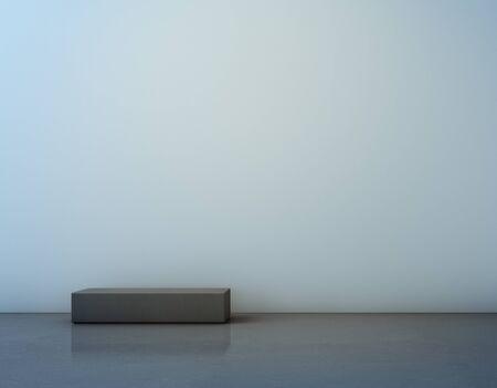 콘크리트 바닥 및 흰색 벽 -3D 그림
