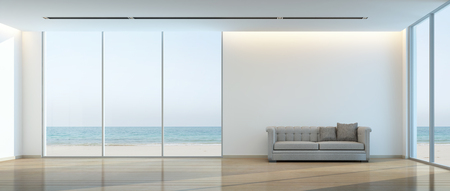 sea view living room- 3D rendering