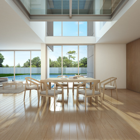 Meeting and living room in home office - 3d rendering