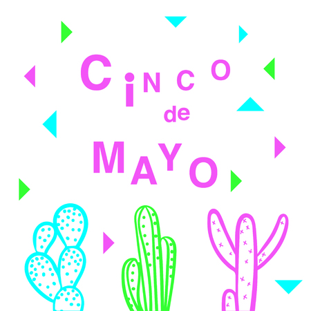 Cinco de Mayo - May 5, federal holiday in Mexico. Fiesta banner and poster design.