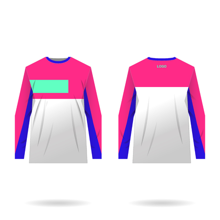Jersey design for extreme cycling. Mountain bike jersey. Vector illustration for sublimation printing. Banco de Imagens - 97280459