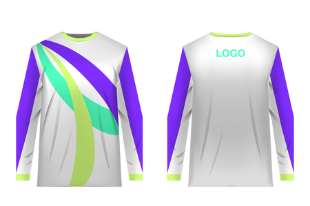 Jersey design for extreme cycling. Mountain bike jersey. Vector illustration for sublimation printing. Unisex. Banco de Imagens - 97946019