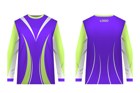 Jersey design for extreme cycling. Mountain bike jersey. Vector illustration for sublimation printing. Unisex.