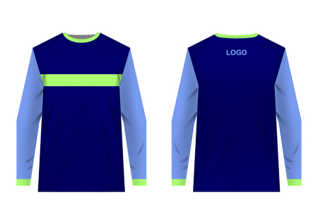 Templates jersey for mountain biking. Jersey for motocross, extreme cycling, downhill. Sublimation print. Sportswear design. Design for competition, team wearing. Banco de Imagens - 102344088