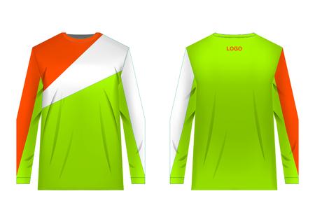 Maillot de plantillas para ciclismo de montaña. Maillot para motocross, ciclismo extremo, descenso. Impresión por sublimación. Diseño de ropa deportiva. Diseño para competición, uso en equipo.