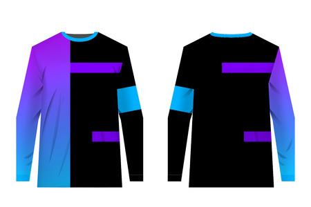 Plantillas de diseños de ropa deportiva para impresión por sublimación. Uniformes para competiciones, juegos por equipos, estilo corporativo, campañas publicitarias. Maillot para motocross, bicicleta de montaña.