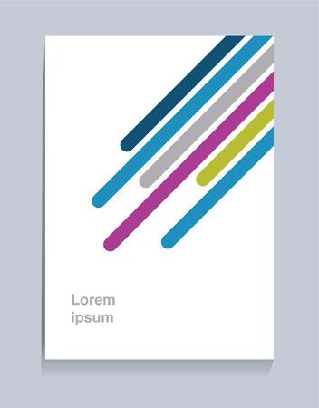 Diseño de fondo de volante de plantilla de folleto de diagonales coloridas para tamaño de papel A4 con espacio en blanco para diseño de texto y mensaje. Ilustración de vector