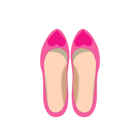 Fashion vector womens shoes. Image of a pair of female shoes on a white background. Illustration