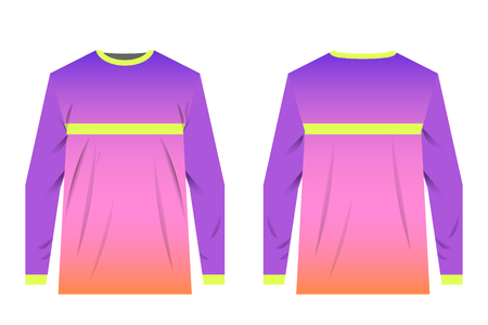 Uniforms for competitions, team games, corporate style, advertising campaigns. Jersey for motocross, mountain biking, enduro. Modern design templates.