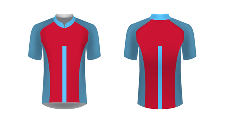 Cycling uniform templates. Gaming casual clothing concept. Uniform for racing, cycling, running, triathlon competitions, marathon. Cycling tour team uniform. Soccer sportswear.