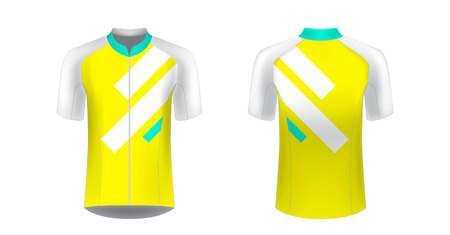 Apparel blank for triathlon, cycling, running competition, marathon and racing games. T-shirt sport design concept. Gaming casual clothing concept. Soccer sportswear. Sublimation print. Tech pack. Banco de Imagens - 120691625