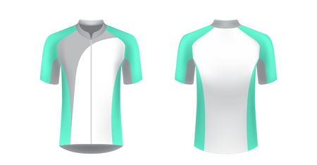 Apparel blank for triathlon, cycling, running competition, marathon and racing games. T-shirt sport design concept. Gaming casual clothing concept. Soccer sportswear. Sublimation print. Tech pack.