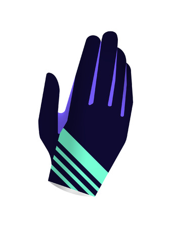 Sport gloves isolated on white background. Gloves design for active sport. Insulated gloves vectorillustration for motocross, cycling and mountain biking.