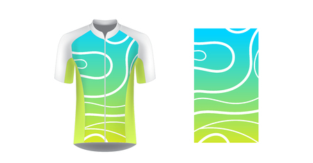 Sportswear templates for designers. Layouts for creating custom designs for promotions and sport events. Uniform for running, marathon, cycling tour.