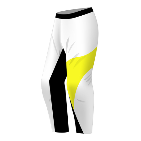 Motocross pants design. Sportswear design for competitions, promo, racing, gaming. Templates trousers for mountain biking, downhill. Sublimation print. Vector illustration. Banco de Imagens - 123521089