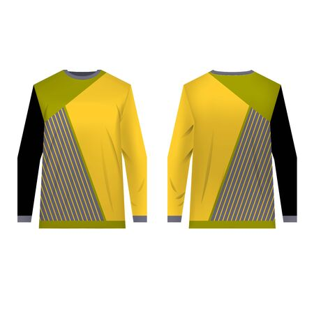 Jersey design for extreme cycling. Mountain bike jersey.