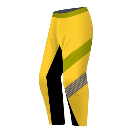 Motocross sportswear trousers mockup isolated. Sportswear illustration for mountain bike, motocross, skiing, snowboarding. Ilustração