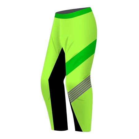 Motocross sportswear trousers mockup isolated. Sportswear illustration for mountain bike, motocross, skiing, snowboarding. Banco de Imagens