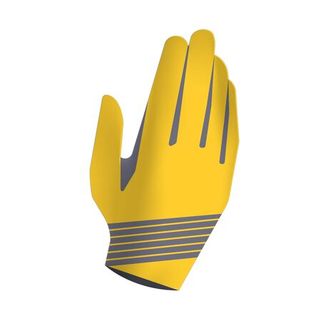 Sport gloves isolated on white background. Gloves design for active sport. Banco de Imagens