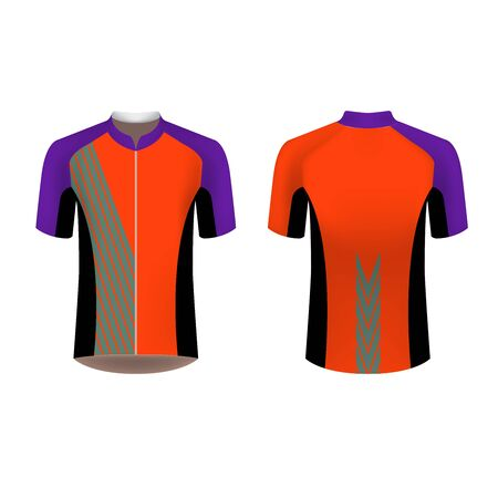 Sportswear design. Equipment for motocross, sports bike, cycling. Vector. Template for custom design. Cycling tour shirt.