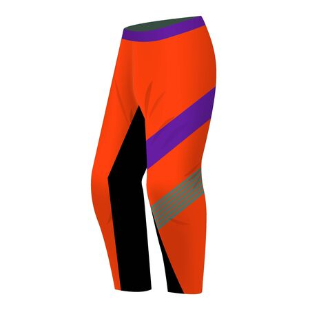 Sportswear design. Equipment for motocross, sports bike, cycling. Vector. Template for custom design. Pants for motocross, snowboarding, skiing.