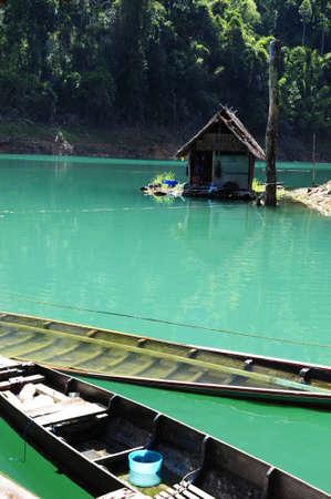 Hut in Lake Stock Photo - 7754236