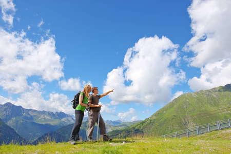a beautiful sunny mountain in Chamonix, France. photo