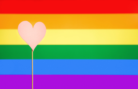 Gay Pride And Lgbt Background Rainbow Flag Design Template With