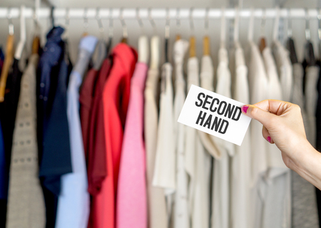 Second hand clothing shop.