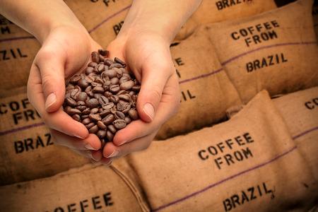 Handel mit Kaffeebohnen
