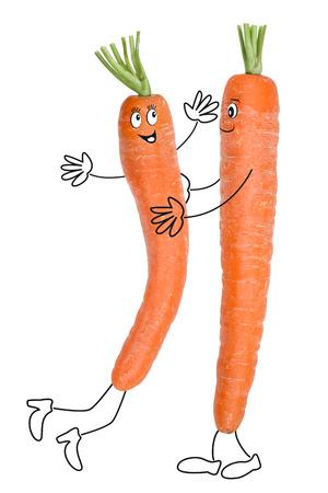 pies bailando: Las zanahorias felices, comida sana