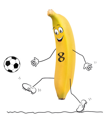 bundes: Banana with football