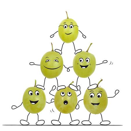 Sporting grapes 免版税图像