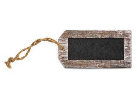 Blank label, blackboard Stockfoto