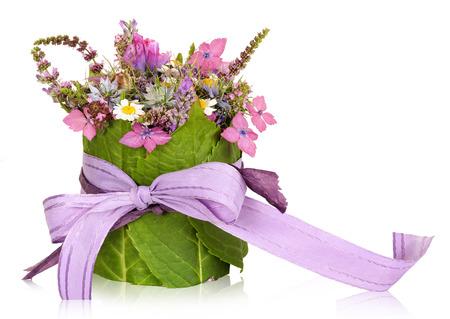 Flower arrangement, table decoration, present photo