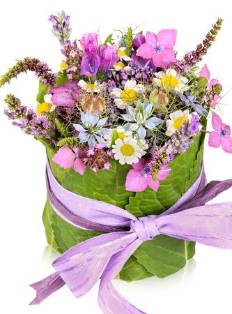 Table decoration, present, flower arrangement photo