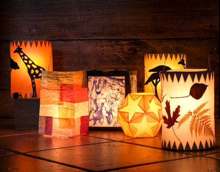 Different handmade lanterns photo