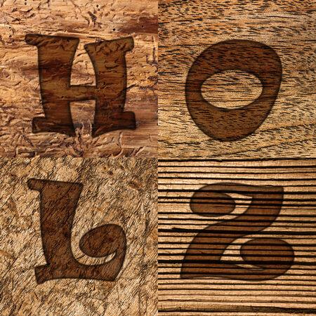muster: Verschiedene Holzarten